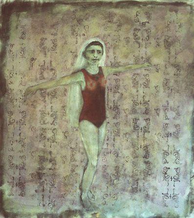 Leyla, målning, olja, 100x100cm